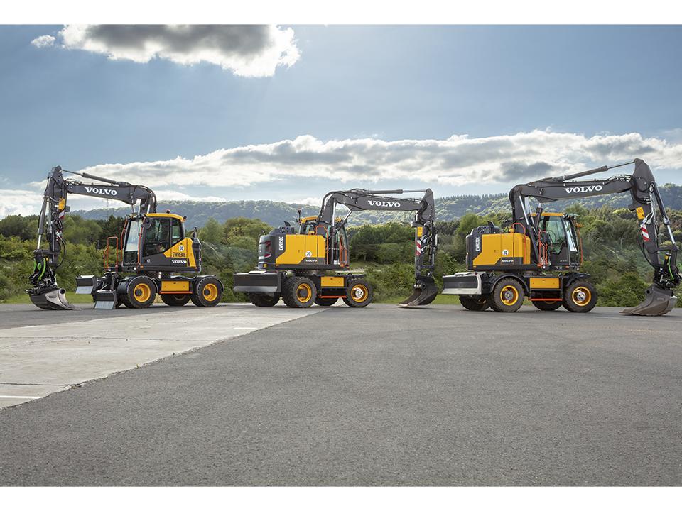 EWR130E EWR150E EWR170E Wheeled Excavators Range